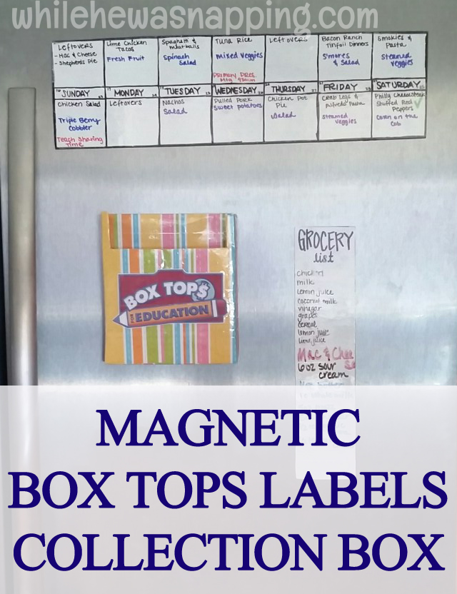 Box Tops for Education General Mills Bonus Box Tops Magnetic Collection Box