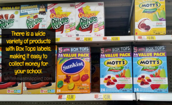 Box Tops for Education General Mills & Walmart BTFE Products