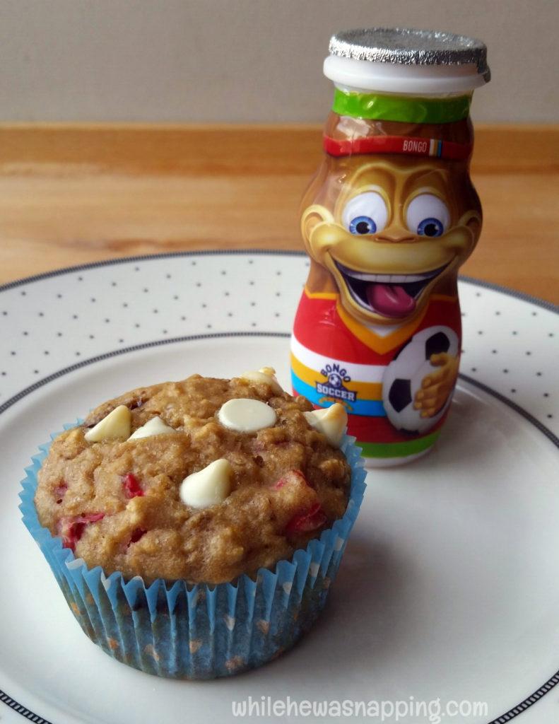 Chocolate Chunk Strawberry Banana Muffins Danimals Smoothie Breakfast