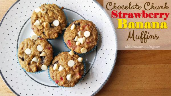 Chocolate Chunk Strawberry Banana Muffins Danimals Smoothie Muffins Main