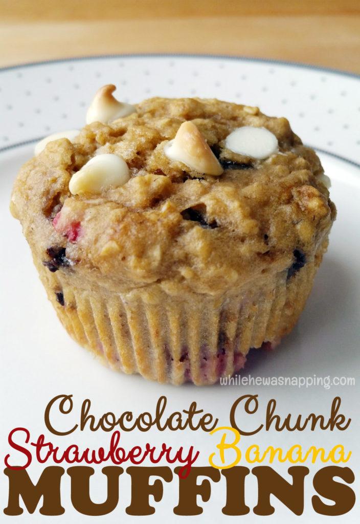 Chocolate Chunk Strawberry Banana Muffins Danimals Smoothie Muffins Unwrapped