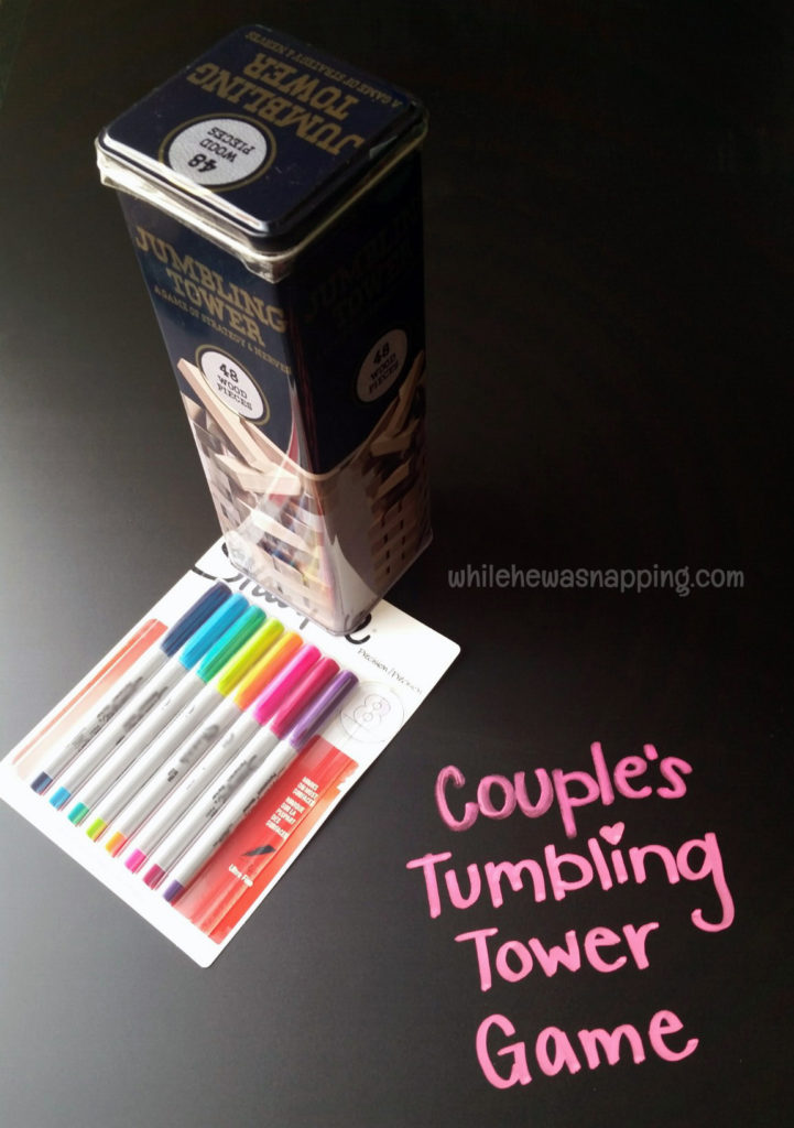 K-Y® LOVE Fall Date Night Kit Couples Tumbling Tower Materials