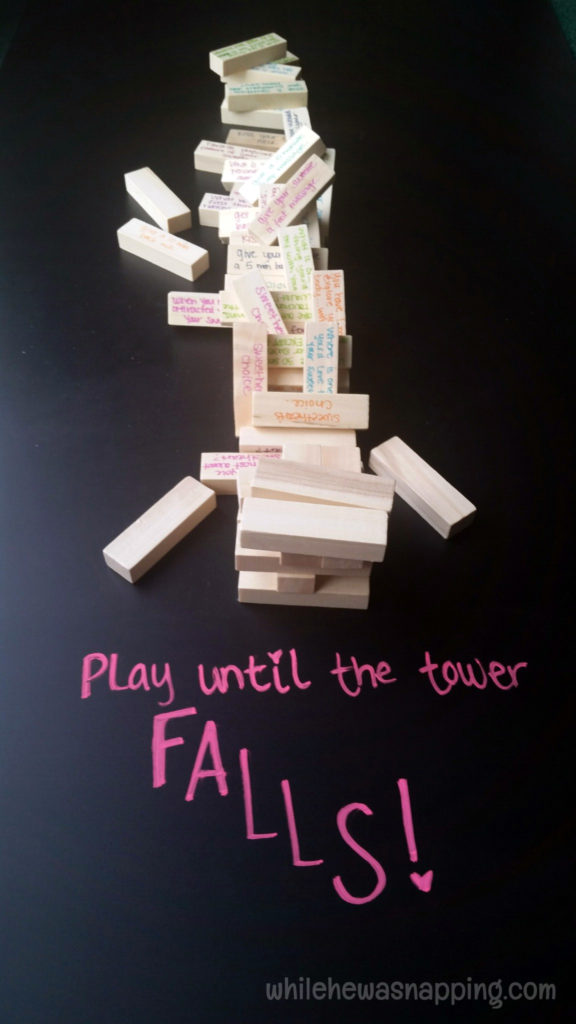 K-Y® LOVE Fall Date Night Kit Couples Tumbling Tower play until it falls