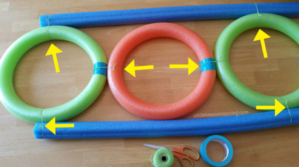 Pool Noodle DIY Toss Game - Assembly