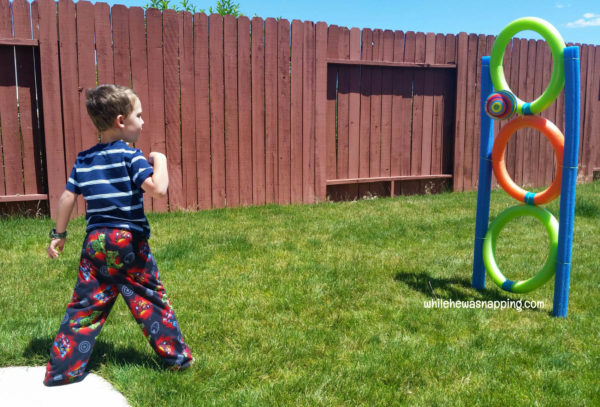 Pool Noodle DIY Toss Game Ball