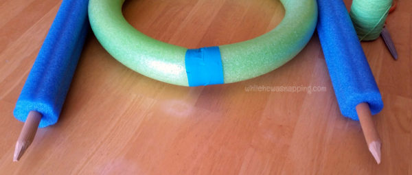 Pool Noodle DIY Toss Game - dowels