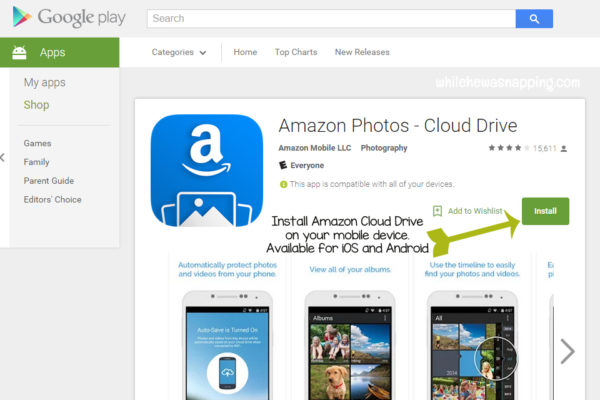 Amazon Cloud Drive Install on Mobile Device Play Store