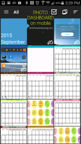 Amazon Cloud Drive Mobile Photo Dashboard