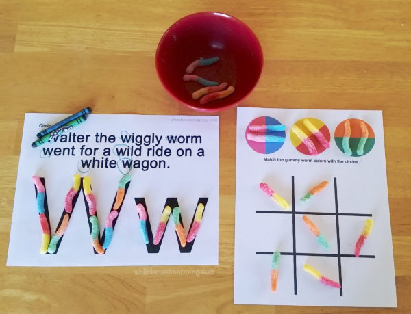 Colors and Tic-Tac-Toe W Worksheet