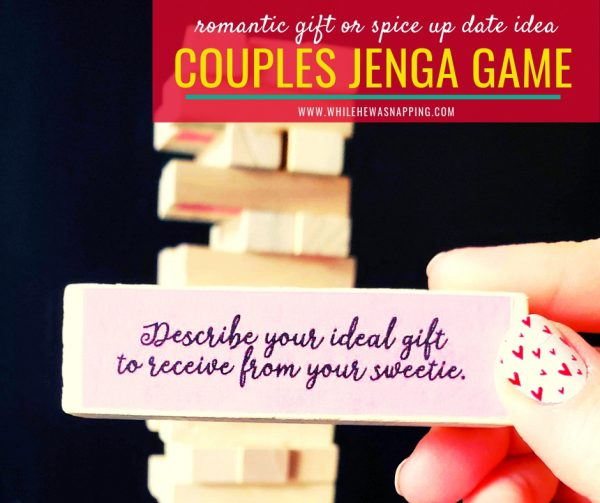 DIY Couples Jenga Date Night Game