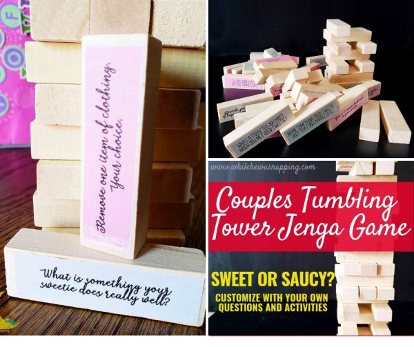 Tumbling Tower Couples Jenga Game