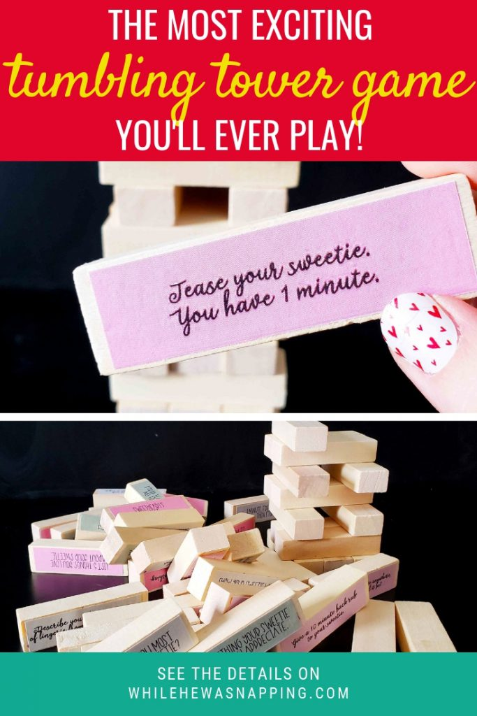 Date Night Tumbling Tower Game Couples Jenga