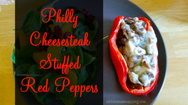 Philly Cheesesteak Stuffed Red Peppers Hero