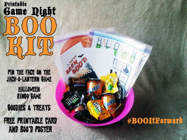BOO it Forward Printable Game Night BOO Kit