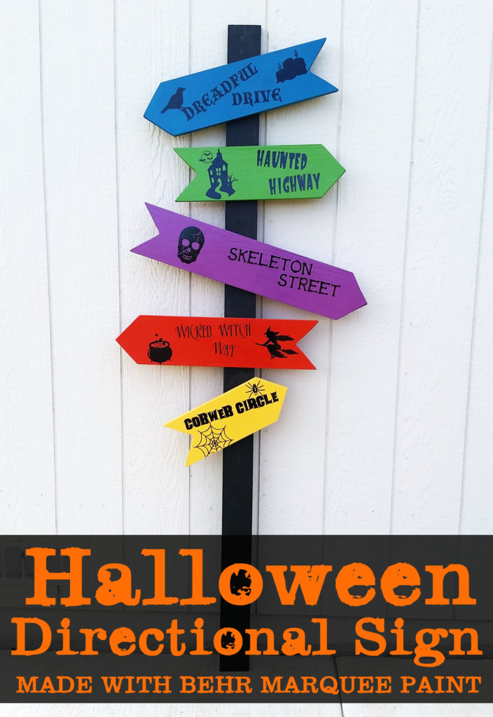 Behr Marquee Halloween Directional Sign