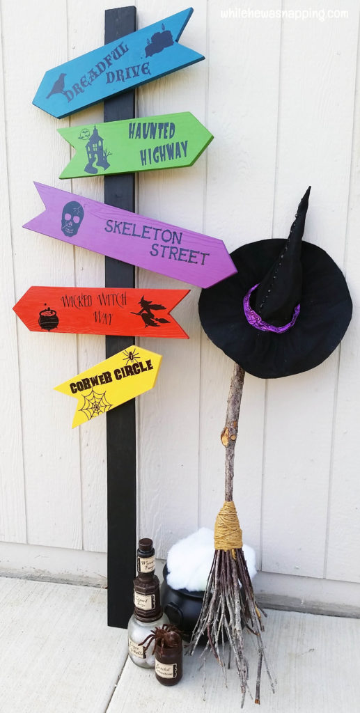 Behr Marquee Halloween Directional Sign and Halloween Decor