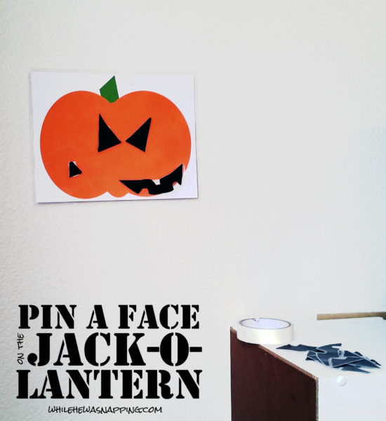 Build a Jack-O-Lantern Printable Pin A Face on the Jack-O-Lantern