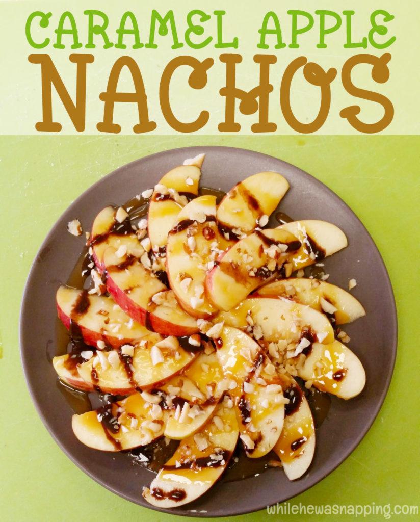 Caramel Apple Nachos Overhead