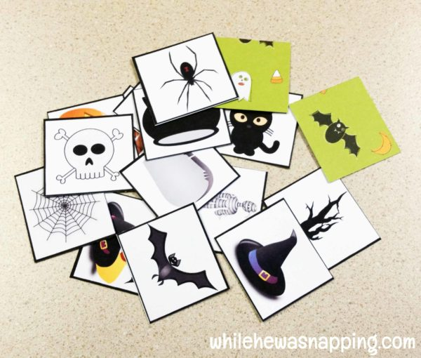 Halloween Bingo Printable Draw Pile Cards Ready to Laminate