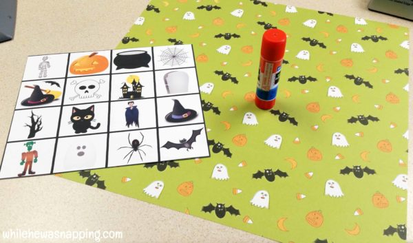 Halloween Bingo Printable Draw Pile Supplies