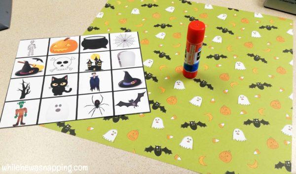 Halloween Bingo Printable Draw Pile Supplies