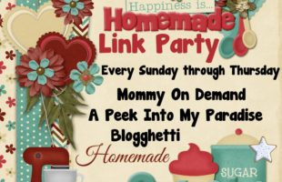Happiness is Homemade Link Party #141