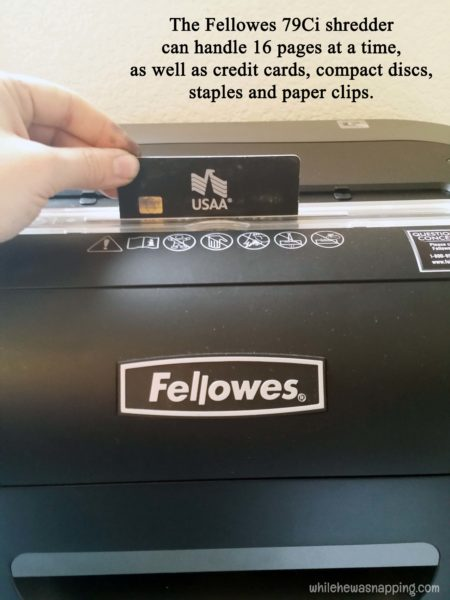 Keeping the Paper Clutter Down with Fellowes 79Ci Shredder 16 pages credit cards cds