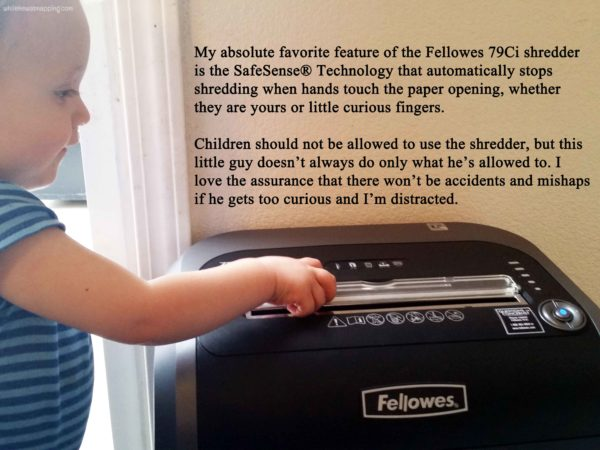Keeping the Paper Clutter Down with Fellowes 79Ci Shredder SafeSense auto stop