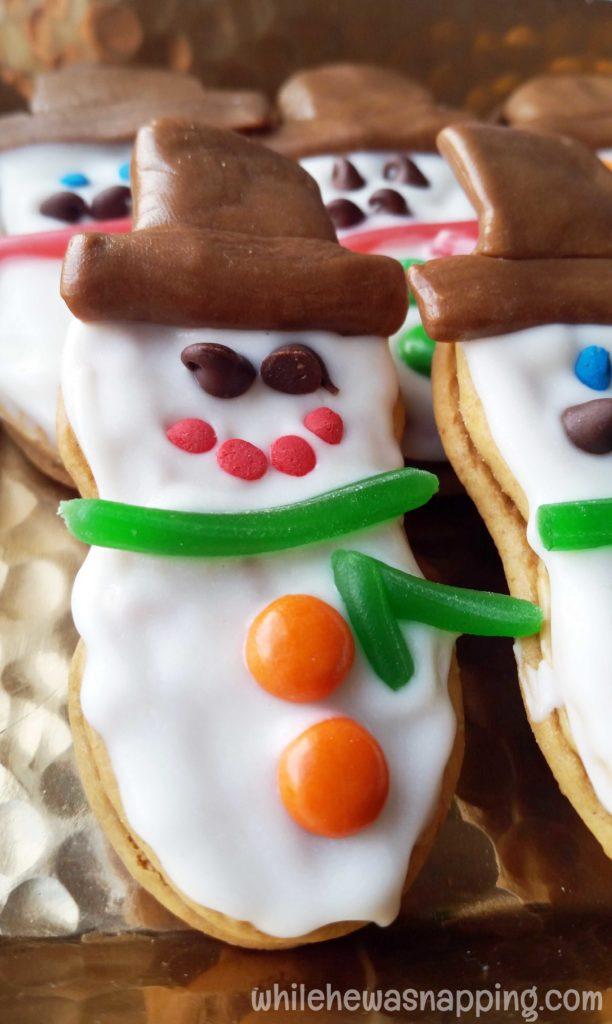 Nutter Butter Snowmen Cookies Large Nutter Butter Snowman Closeup
