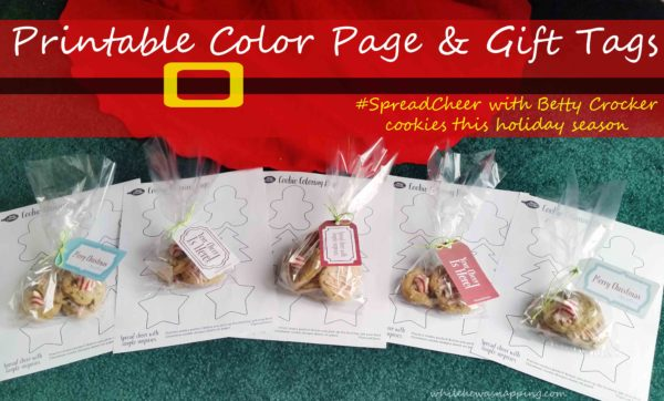 Spread Cheer Betty Crocker Cookies Printable Color Page & Tags