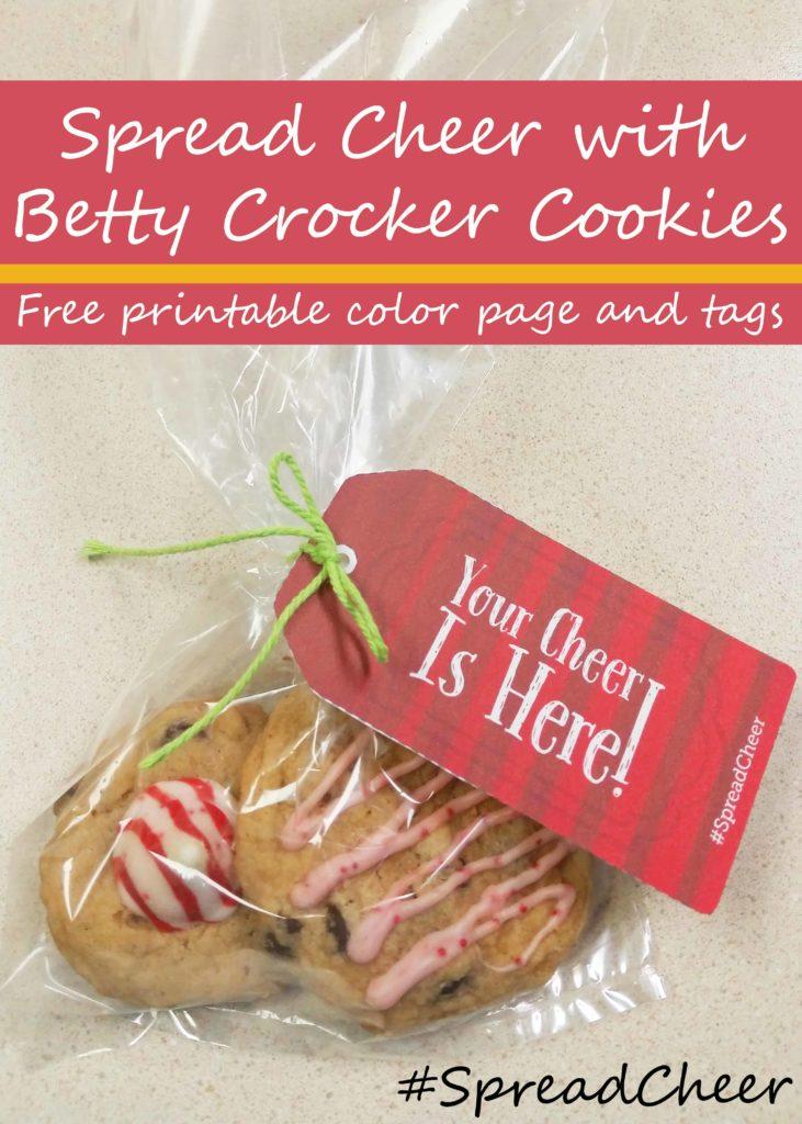 Spread Cheer Betty Crocker Cookies Printable Tag