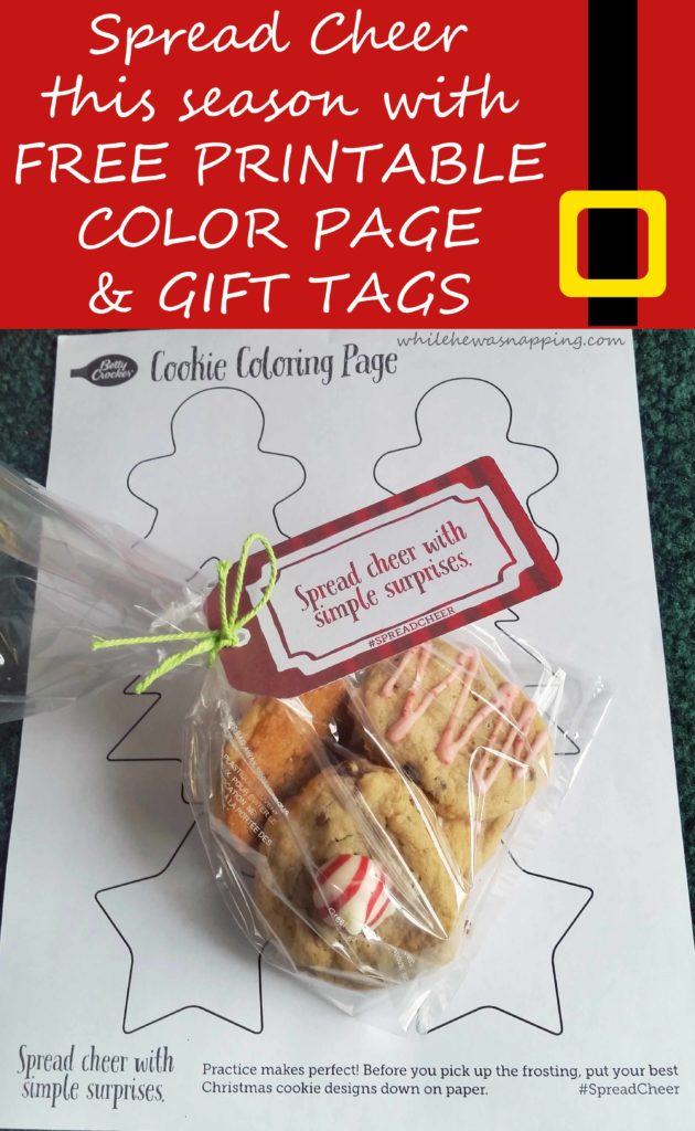 Spread Cheer Betty Crocker Cookies Printable Tag & Color Page