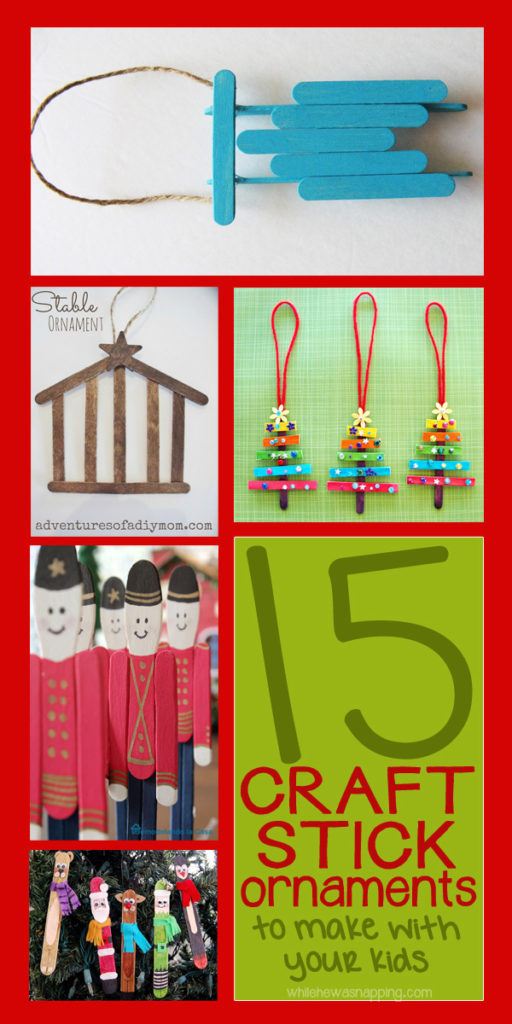 15 Craft Sticks Ornaments You Can Make With Your Kids