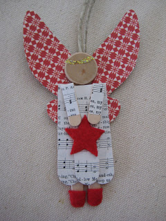 Angel Craft Stick Ornament found on Leaf and Letter Handmade