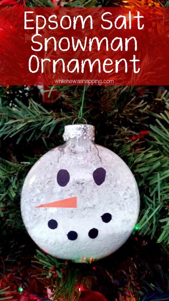 Epsom Salt Snowman Ornament - Great project for kids