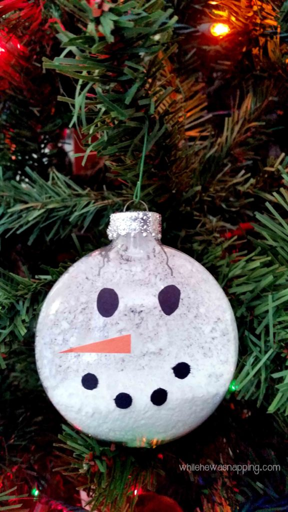 Epsom Salt Snowman Ornament