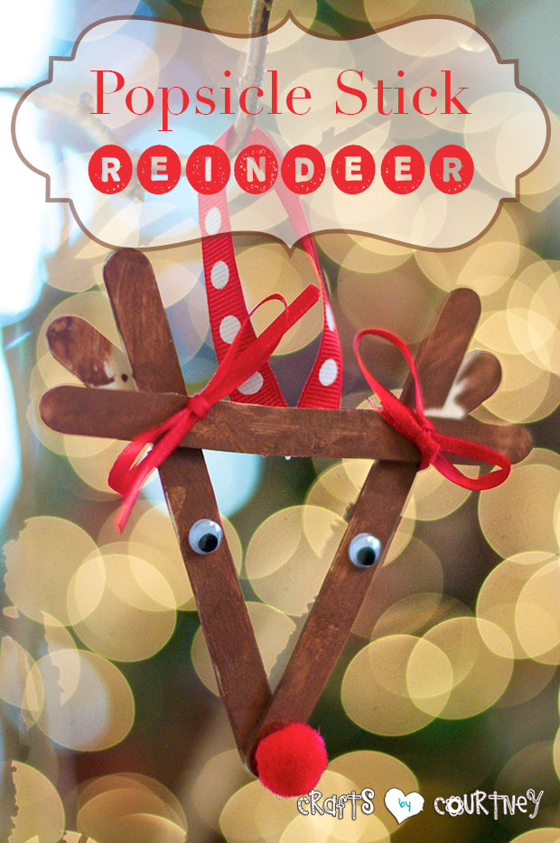 Reindeer Craft Stick Ornament found on Crafts by Courtney