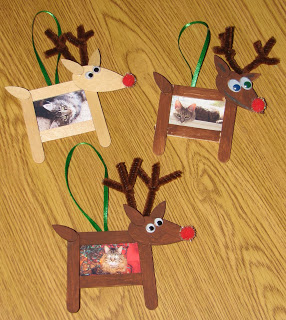 Reindeer Photo Craft Stick Ornament found on renajjones
