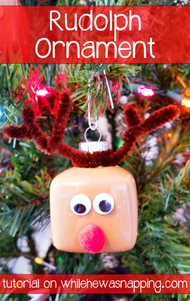 Rudolph Ornament DIY Christmas Ornament