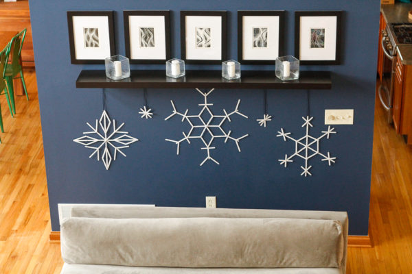 Snowflake Craft Stick Ornaments on Unsophisticated Cook