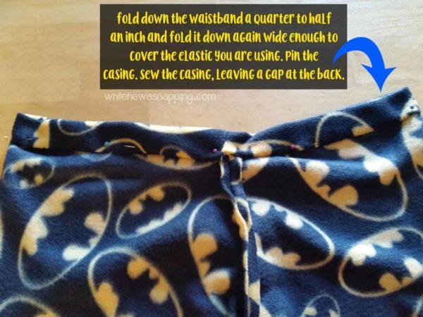 5 Seam Pajama Pants Elastic Casing