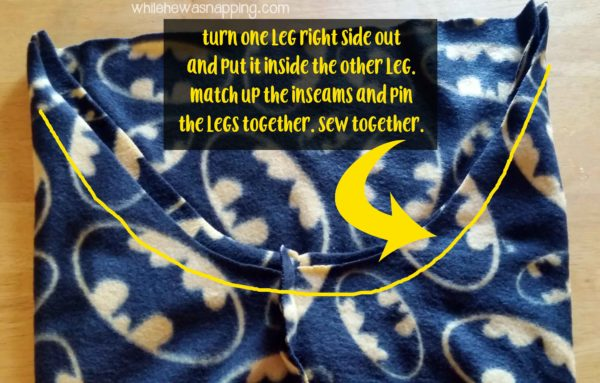 5 Seam Pajama Pants Sew the Center Seam