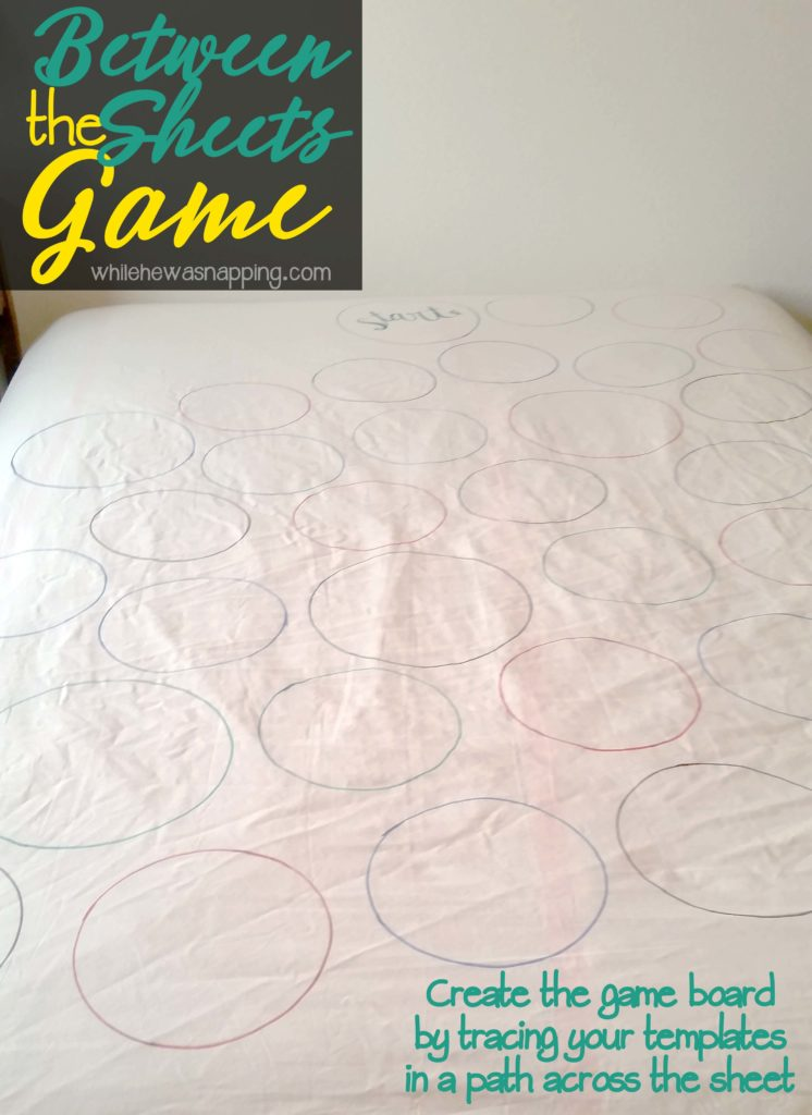 Between the Sheets DIY Bedroom Game Create the Gameboard