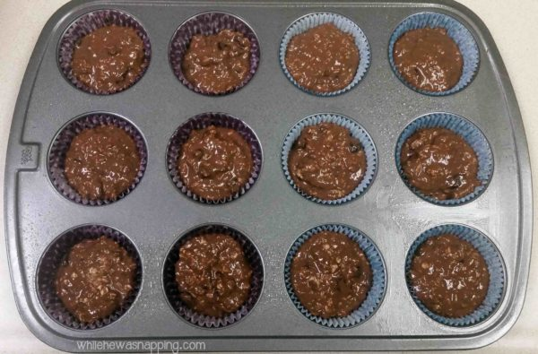 Cranberry Chocolate Muffins made with Carnation Breakfast Essentials in Muffin Tins