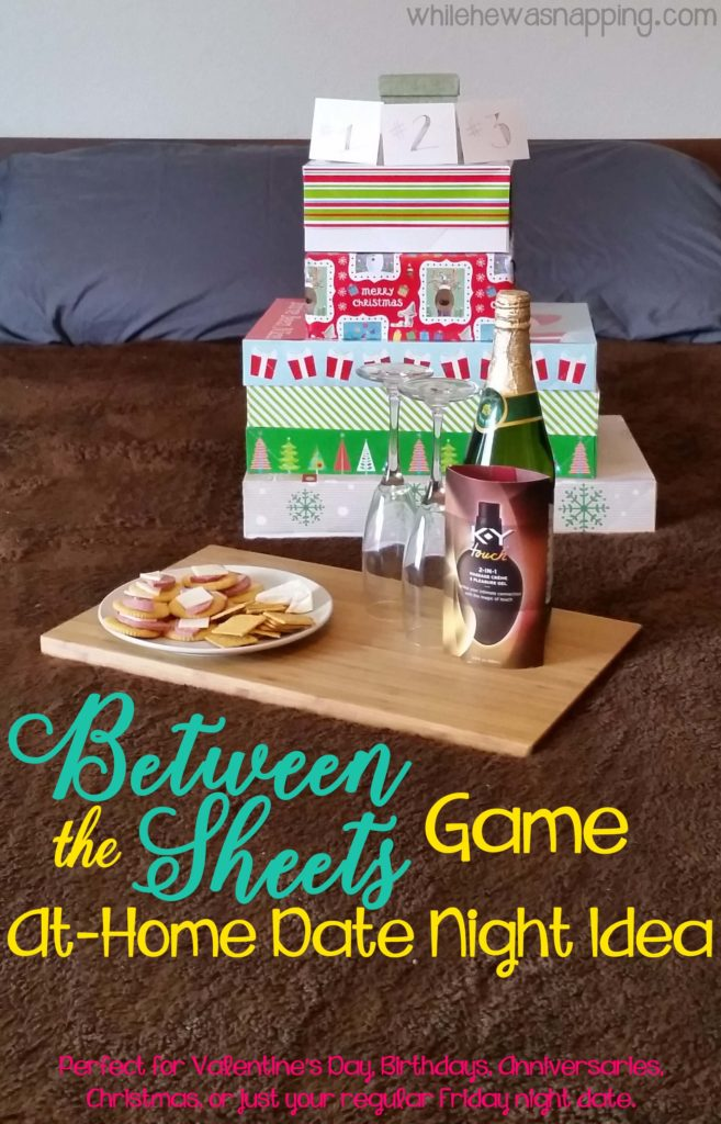 K-Y® TOUCH® Between the Sheets Game At Home Date Night Idea