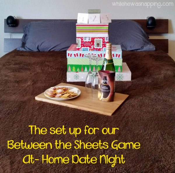 K-Y® TOUCH® Between the Sheets Game Date Night Idea Set Up