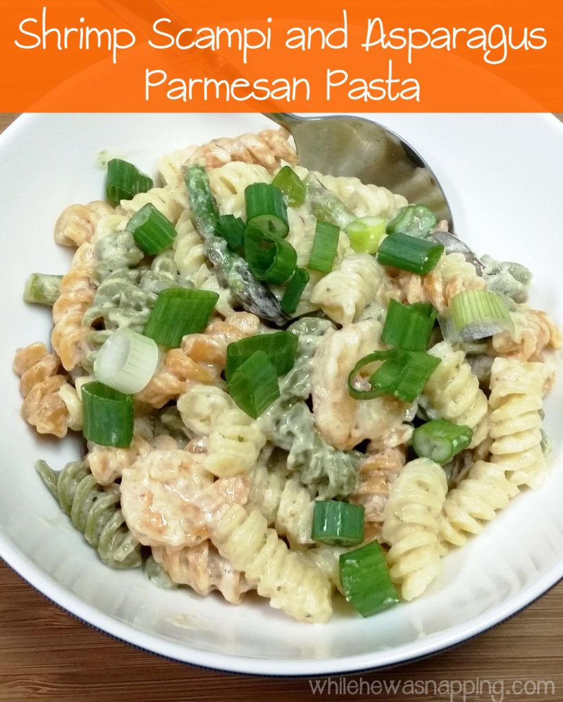 Shrimp Scampi and Asparagus Parmesan Pasta - A Quick and Easy Meal