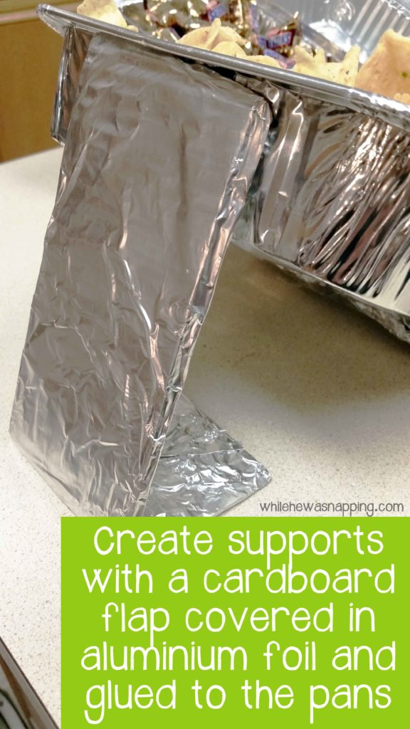 Snack Stadium for The Big Game with Aluminium Foil Pans Supports