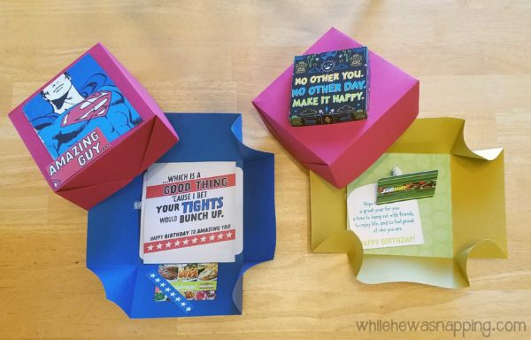 Hallmark Song Card DIY Musical Explosion Boxes