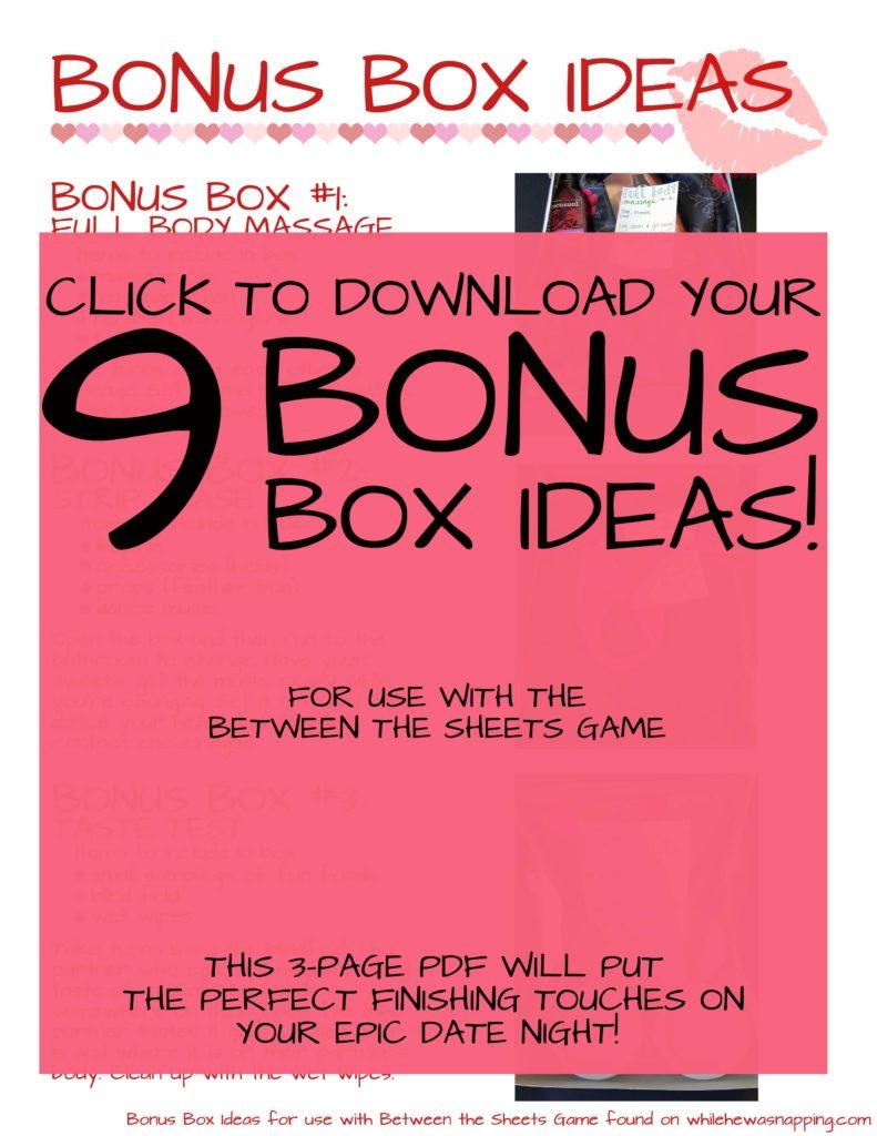 Bonus Box Ideas Hidden